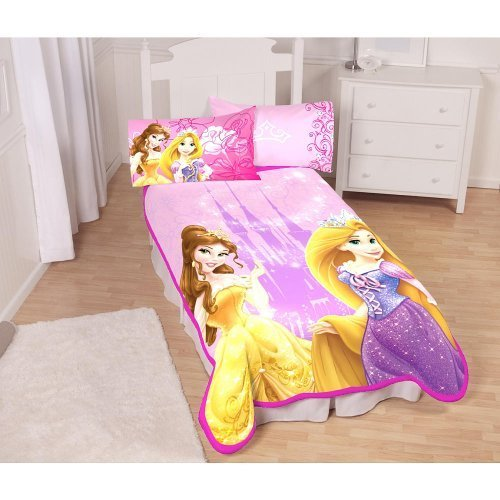 Disneys Princess Castle Royalty Twin Micro Raschel Blanket - 1