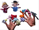 Homgaty 12 Pcs One Two Three Four Five Animals Finger Puppets Story Telling Nursery Fairy Tale The Perfect Birthday, Christmas Gift