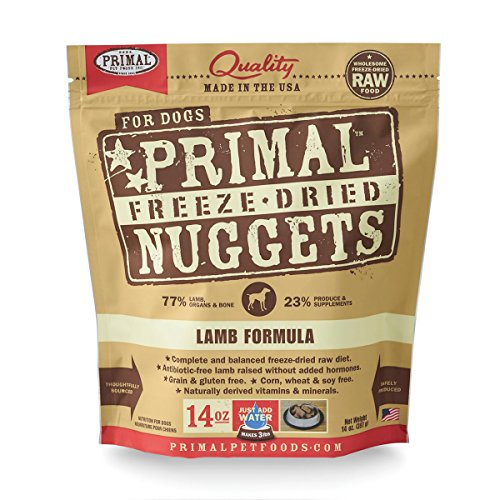 Primal Pet Foods Freeze-Dried Canine Lamb Formula 14 oz, FREE treat with purchase a $9.99 value! (Primal Freeze Dried Food compare prices)