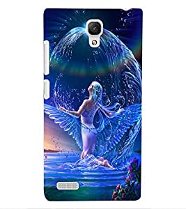 ColourCraft Beautiful Angel Design Back Case Cover for XIAOMI REDMI NOTE 4G
