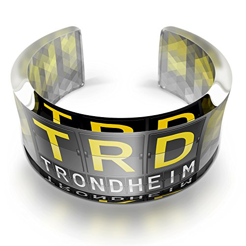 Resin Cuff Bracelet TRD Airport Code for Trondheim, Neonblond (Trd Resin compare prices)