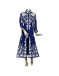 Blue Georgette Designer Party Wear Anarkali Style Kurti