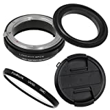 Fotodiox M-Reverse-58-Nikon-Kit RB2A 58MM Macro Reverse Ring Kit with G and DX Type Lens Aperture Control, 52MM Lens Cap and 52MM UV Protector Fits Nikon