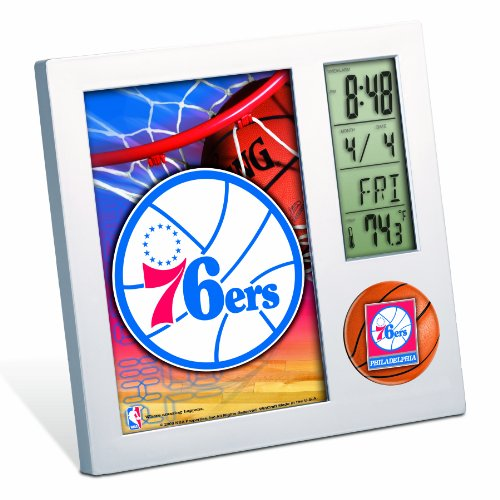 NBA Philadelphia 76ers Digital Desk Clock