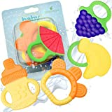 Baby Teething Relief Toy By Little Lamby (5 Pack) - FDA Approved BPA Free 100% Safe Soft Chewy Silicone Material, Painless Colourful Fun Set For Infant And Toddler.
