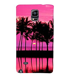Scenery of Ocean at Evening with sun set 3D Hard Polycarbonate Designer Back Case Cover for Samsung Galaxy Note 4 :: Samsung Galaxy Note 4 N910G :: Samsung Galaxy Note 4 N910F N910K/N910L/N910S N910C N910FD N910FQ N910H N910G N910U N910W8