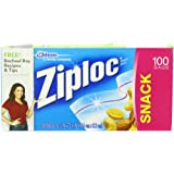 Ziploc Snack Bag Value Pack, 100-Count(Pack of 3)