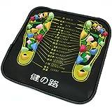 Colored Plastic Walk Stone Square Healthy Foot Massage Mat Pad Cushion