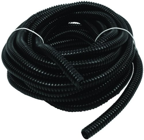 Wire Loom Black 20′ Feet 1/2″ Split Tubing Hose Cover Auto Home Marine