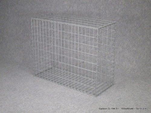 gabion 100x80x40 cm treillis 5x10 cm fil 4mm. Black Bedroom Furniture Sets. Home Design Ideas