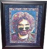 Jerry Garcia Grateful Dead Color Framed Litho - Sports Memorabilia