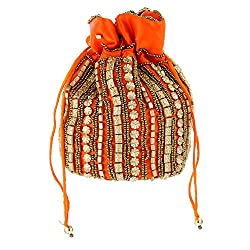 Home N Mee Potli Bag (Orange) (HNMWBC066)