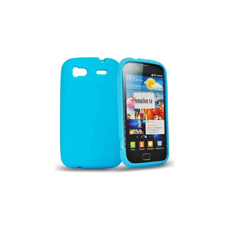 Mobile Palace  Sky blue silicone case cover for htc sensation xe