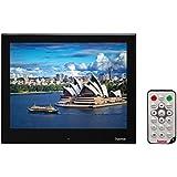 Hama Digitaler Slimline Premium Acryl Bilderrahmen (25,4 cm (10 Zoll) SD/SDHC/MMC-Kartenslot, USB 2.0, mit Fernbedienung) schwarz