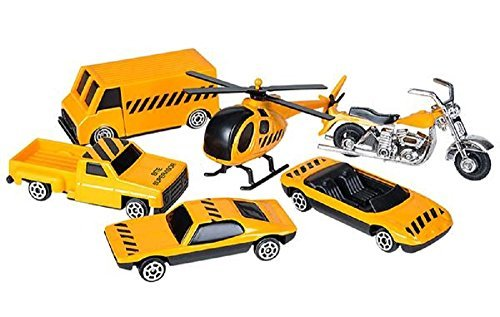 6 pc Construction Vehicle Die Cast Metal Play Set - 1