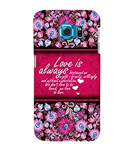 Love Is Always Best 3D Hard Polycarbonate Designer Back Case Cover for Samsung Galaxy S6 Edge :: Samsung Galaxy Edge G925