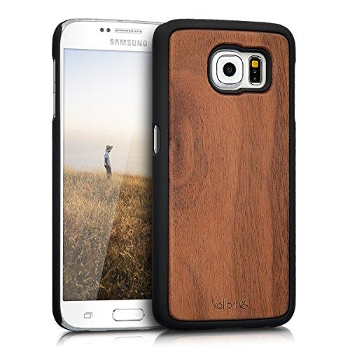 kalibri-Schutzhlle-aus-Holz-fr-Samsung-Galaxy-S6-S6-Duos-Premium-Echtholz-Case-Cover-mit-Kunststoff-in-Dunkelbraun