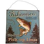 Fisherman Metal Hanging Sign
