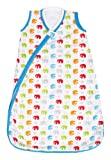 JJ Cole Wearable Blanket, Primary Elephants, 0-6 Months