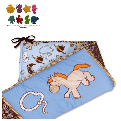 Cowboy Baby - Crib Bumpers & Purchasecorner Toy Bundle front-239107