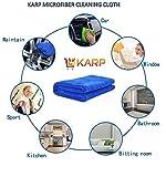 KARP MICROFIBER MULTI PURPOSE TOWEL,CAR CARE AND DRY WET CLEANING CLOTH (40cm x40cm) Dark blue