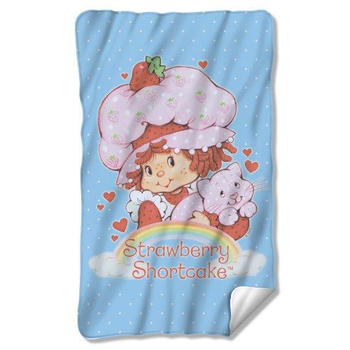 Strawberry Shortcake Rainbow Sublimation Fleece Blanket front-371402