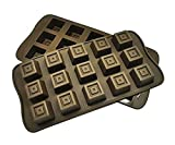 DivineXt Silicone Bakeware Mould for Chocolate and Ice Cube 15 Cavity Chocolate Mold BakeWare Small Square