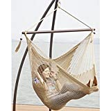 Prime Garden Super Soft Hand Woven Caribbean Style Rope Hammock Chair Tan