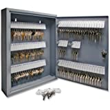 S.P. Richards Company  Secure Key Cabinet, 14 x 3 x 17-1/8 Inches, 110 Keys, Gray  (SPR15604)