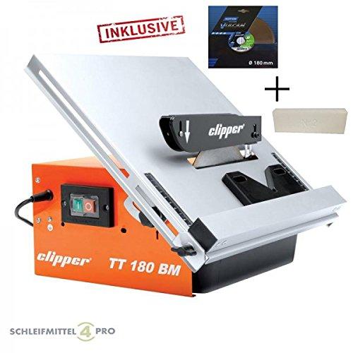 Set-NORTON-Clipper-Fliesenschneider-TT-180-BM-zweite-Trennscheibe-Schrfstein-Koffer