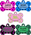 Personalized Dog Tag Pet ID Tag Paw Prints w/ Name & Number