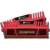 Corsair CMZ8GX3M2A1600C9R Mémoire RAM DDR3 1600 8Go COR CL9 Vengeance Kit2 LP Red