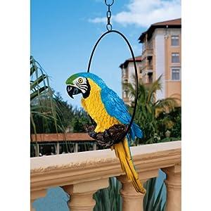 Lifelike Parrot Statue Garden Decor Gardening Home Garden