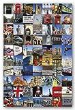 London Collage Poster Photos 24x36 England Art 33553