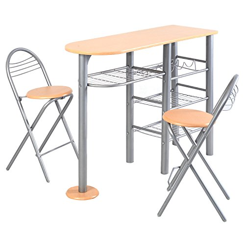 Giantex pub dining set counter height 3 piece table and for Kitchen set node attributes