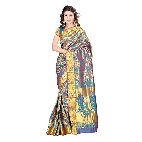 Varkala Silk Sarees Silk Full Brocade Saree (Ns5103Rmv _Rama Green)