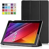 MoKo Etui ASUS ZenPad 10 Z300C - étui à Rabat avec Support Ultra-Mince et Léger pour Tablette ASUS ZenPad Z300C 10.1 Pouces 2015, NOIR