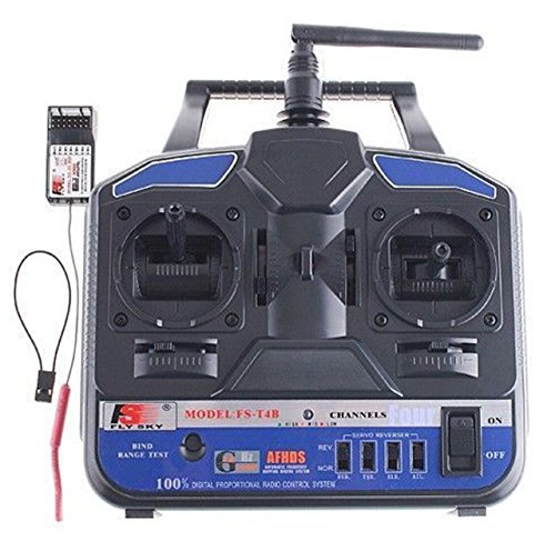 NuoYa001 New Arrival Radio Model RC Transmitter & Receiver 2.4G FS-T4B 4CH