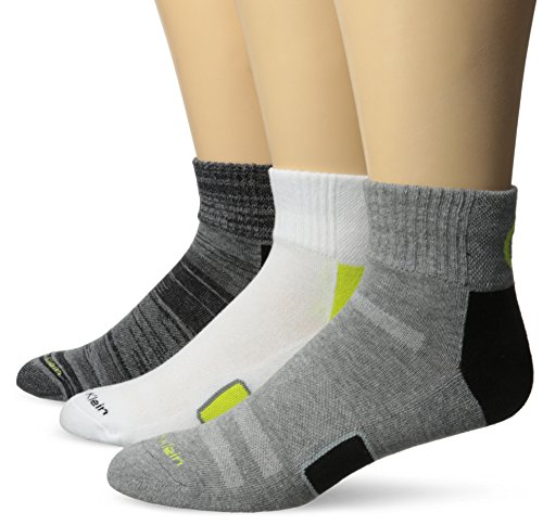 Calvin Klein Men's 3 Pack Coolpass Quarter Sock