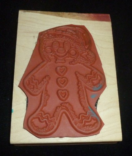 Christmas Gingerbread Man Rubber Stamp - 1