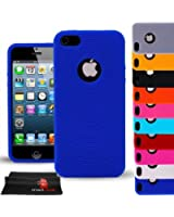 Madcase iPhone 5s / 5 Ring Series Soft Silicone Gel Fitted Case flexible cover - Darkblue