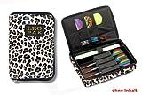 Darttasche LEO PAK, Farbe leopard strapazierfähige Nylon-Tasche für 1-2 Sets montierter Darts und zusätzlichen Fächern für Flys und Ersatzschäfte. (ohne Inhalt)
