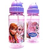 Leakproof Disney Frozen Tritan Kids Water Bottle With Two Straws