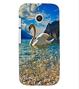 ColourCraft Lovely Duck Design Back Case Cover for MOTOROLA MOTO E
