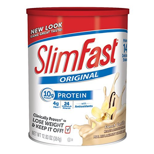 Slim Fast Original, Meal Replacement Shake Mix, French Vanilla, 12.83 Ounce (Pack of 3) by Slim-Fast (Slimfast Shake Mix French Vanilla compare prices)