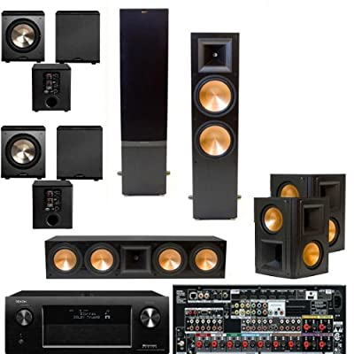 Klipsch RF-7II BLACK Theater System, Denon AVR-X4000 IN-Command 7.2, 2 PL-200- from Klipsch