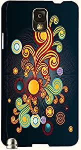 Beautiful multicolor printed protective REBEL mobile back cover for Samsung Galaxy Note 3 / N9000 / N9002 D.No.N-T-1817-N3