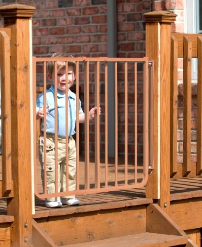 Stairway Special Baby/Pet Gate for Outdoors Colors: Brown - 1