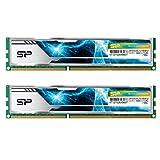 シリコンパワー デスクトップPC用 メモリ ヒートシンク付 240Pin DIMM DDR3-1866 (PC3-12800) 4GB×2枚 1.5V CL13 (無期限保証) SP008GBLTU186ND2