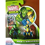 Marvel Playskool Super Hero Adventures Mini Figure 2-Pack Hulk & Wolverine